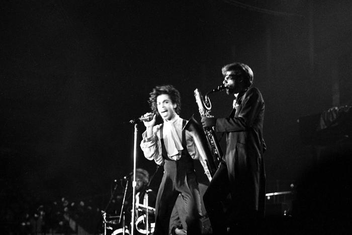 Prince in concert at Palatrussardi in Milan, Italy, 7 June 1987. ANSA/OLDPIX